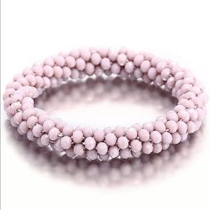 3/$20 Glass Seed Bead Roll on Bracelet Mauve Pink
